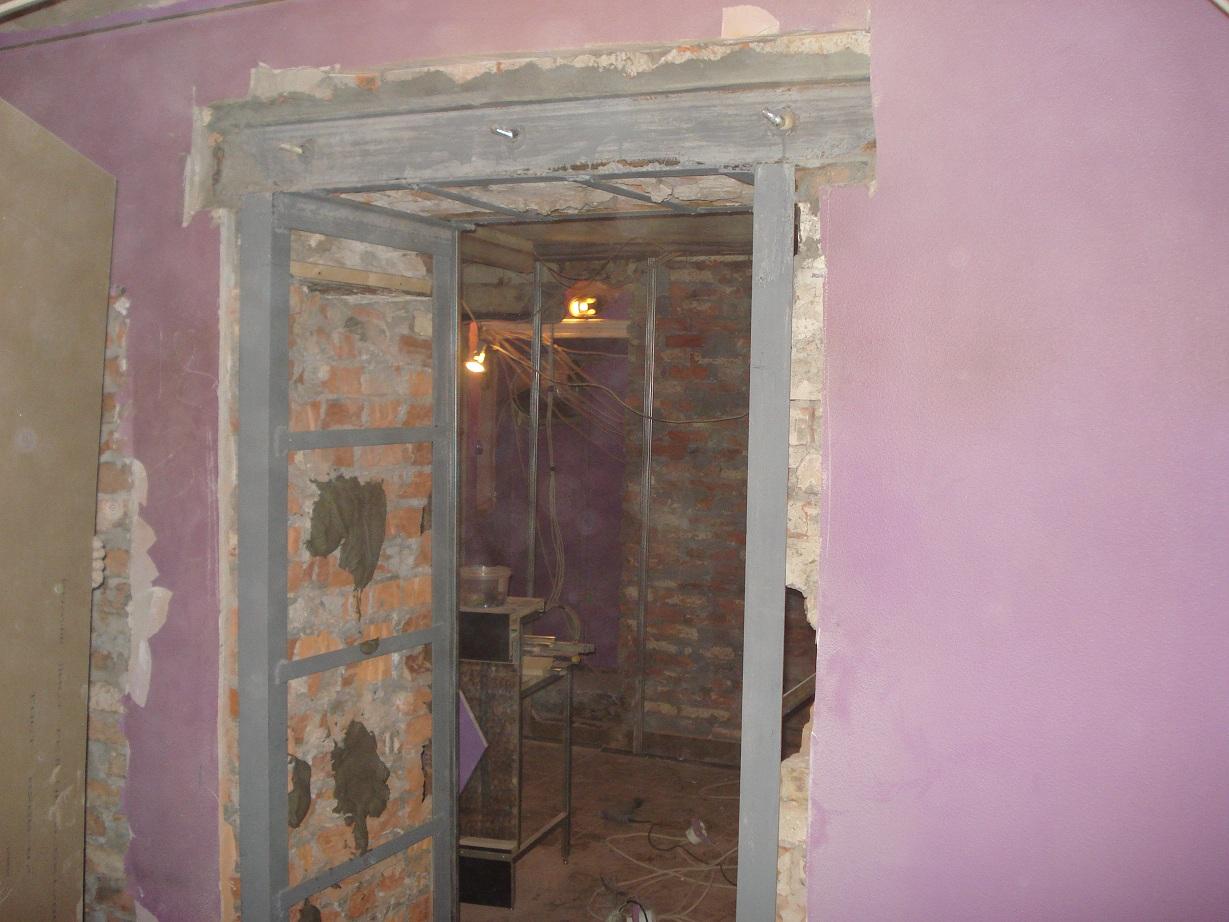 Как сделать дверной проем в бетонной стене 3