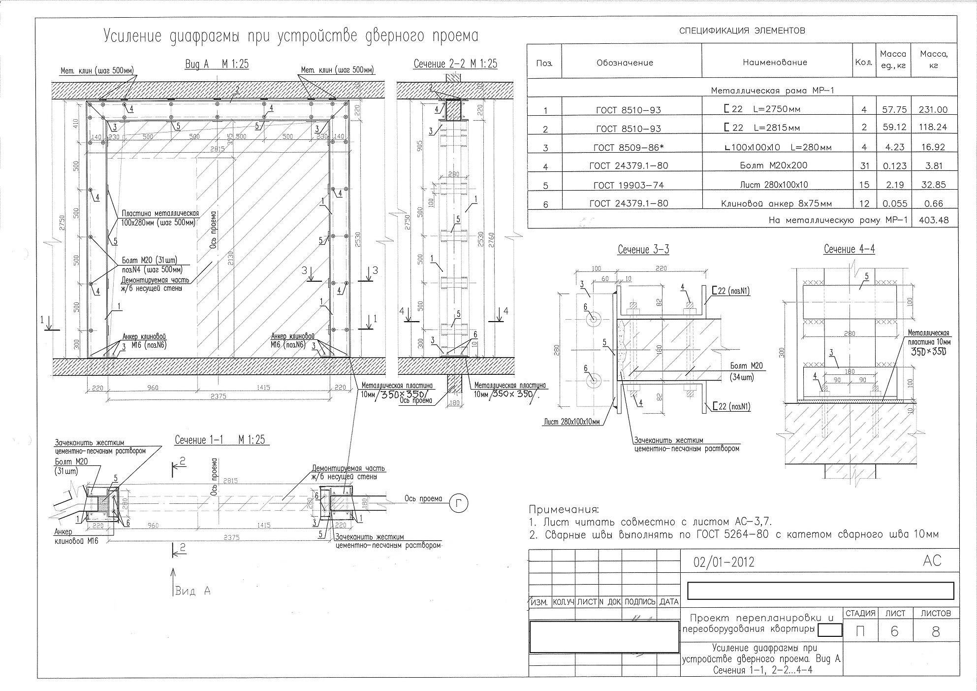 Примеры проекта усиления стеновых панелей лоджий..